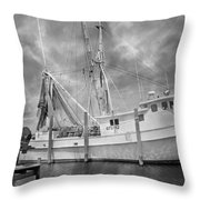 At Rest In The Harbor Throw Pillow