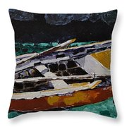 At Rest Throw Pillow by Vickie Warner
