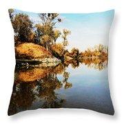 At Rivers Bend Throw Pillow