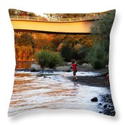 At Rivers Edge Throw Pillow