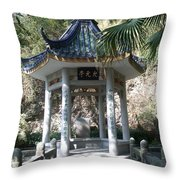 At Scholar's Home In Shantou Throw Pillow