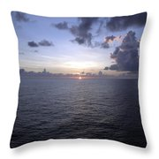 At Sea -- A Sunrise Begins Throw Pillow