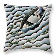 At Sea Throw Pillow by Celia Washington