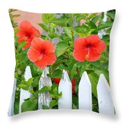 At The Back Gate Throw Pillow