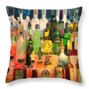 At The Bar 2 Throw Pillow