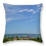 At The Beach 2 Throw Pillow
