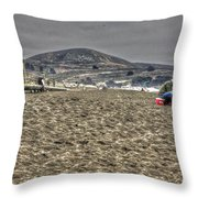 At The Beach At Pacifica Throw Pillow