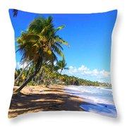 At The Beach Palmas Del Mar Throw Pillow