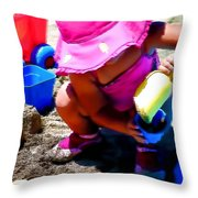 At The Beach Summer 2010 Throw Pillow