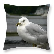 At The Boat Landing Throw Pillow