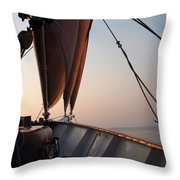 At The Bow Throw Pillow