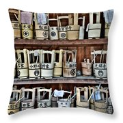 At The Cemetery Throw Pillow