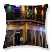 At The  Club On Bourbon Throw Pillow