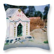 At The Crypt Throw Pillow