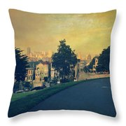 At The Curve Throw Pillow