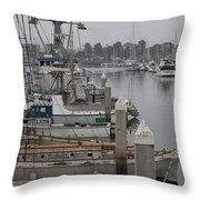 At The Dock Throw Pillow by Amanda Barcon