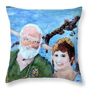 At The Dock Of The Bay Throw Pillow