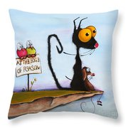 At The Edge Of Reason Throw Pillow