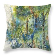 At The Edge Of The Woods Throw Pillow