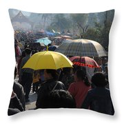 At The Elephant Festival Throw Pillow
