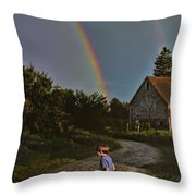 At The End Of A Rainbow Throw Pillow