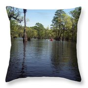 At The End Of The Canoe Throw Pillow