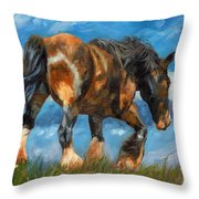 At The End Of The Day Throw Pillow by David Stribbling