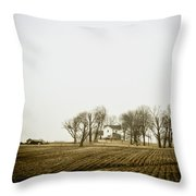 At The Farm Throw Pillow