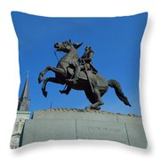 At The Feet Of A Hero Throw Pillow
