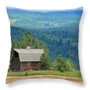 At The Foot Of Mt. Adams Throw Pillow