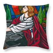 At The Garden Throw Pillow