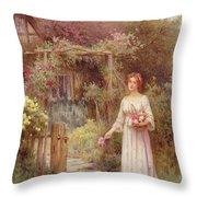 At The Garden Gate Throw Pillow