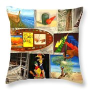 At The Hands Of The Artist  Throw Pillow