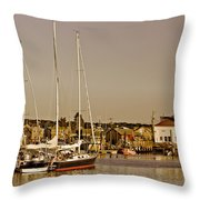 At The Harbor - Martha's Vineyard Throw Pillow