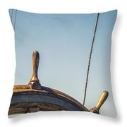 At The Helm Throw Pillow