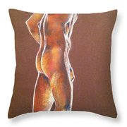 At The Job Site Nude Throw Pillow