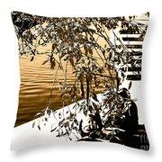 At The Lake-44 Throw Pillow