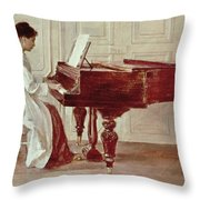 At The Piano Throw Pillow