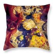 At The Pool Throw Pillow