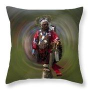 At The Powwow Sault Ste Marie Michigan Throw Pillow