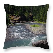 At The River's Heart Throw Pillow