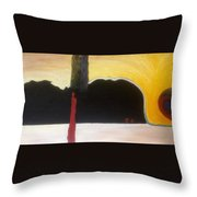 At The Station Throw Pillow