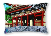 At The Temple Throw Pillow