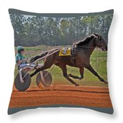 At The Three Quarter Mile Post Throw Pillow
