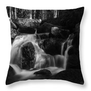 at the upper Bodefall, Harz Throw Pillow