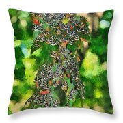 At The Valley Of Butterflies In Rhodes Island Throw Pillow