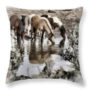 At The Watering Hole 1 Throw Pillow
