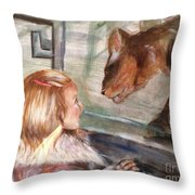 At The Zoo Throw Pillow