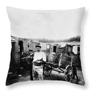 Atget Shantytown, C1900 Throw Pillow