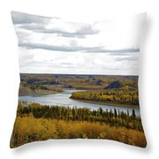 Athabasca Fall Throw Pillow